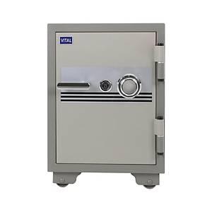 VITAL ตู้เซฟป้องกันไฟ VT-42S รหัสหมุน สีเทา