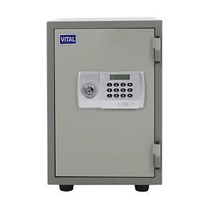VITAL VT-T21D Fire Resistant Security Safe Grey