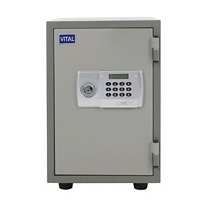 VITAL ตู้เซฟป้องกันไฟ VT-T21D รหัสกดอิเล็กทรอนิกส์ สีเทา