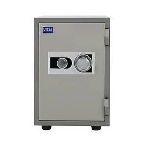 VITAL ตู้เซฟป้องกันไฟ VT-T21S รหัสหมุน สีเทา