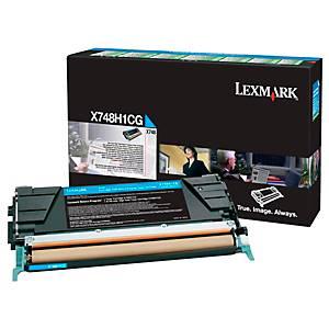 Rückgabe Toner Lexmark X748H1CG, Reichweite: 10.000 Seiten, cyan