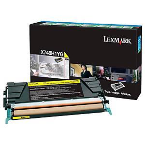 Rückgabe Toner Lexmark X748H1YG, Reichweite: 10.000 Seiten, gelb