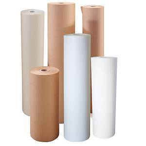 Rollo de papel de embalaje kraft - 1100 mm x 300 m - 80 g/m² - kraft