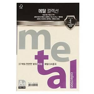 삼원 메탈컬렉션 MJ27 120g A4 째즈화이트골드 10매