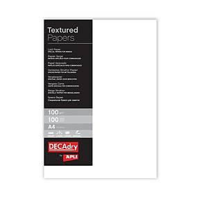 Pacote de 100 folhas de papel vergé Apli - A4 - 100 g/m²