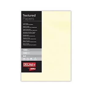 Paquete de 100 hojas de papel verjurado Apli - A4 - 100 g/m2