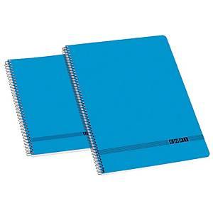 Caderno espiral Enri Oficina - fólio - 80 folhas - liso