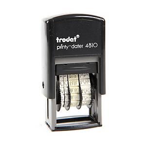 TRODAT ตรายางวันที่หมึกในตัว TR-4810/TT เลขไทย หมึกสีน้ำเงิน