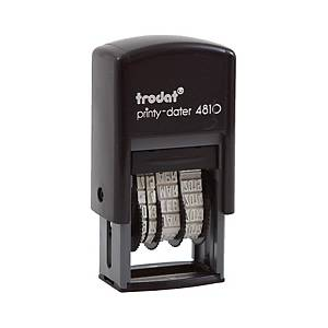TRODAT TR-4810/E Self Inking Date Stamp English Language Blue