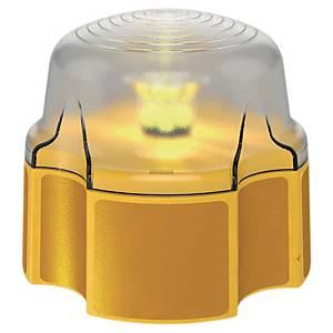 LED Warnlicht für Sicherheitsabsperrung, 14x14x12 cm, gelb