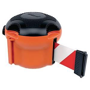Kaseta z taśmą ostrzegawczą Skipper Xs, pomarańczowa z czerwono-białą taśmą, 9 m