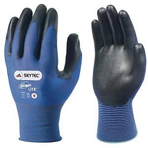 Skytec Ninja Lite Nylon Glove Blue With Black PU Palm Coating Size 8 (Pair)