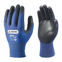 Skytec Ninja Lite Nylon Glove Blue With Black PU Palm Coating Size 11 (Pair)