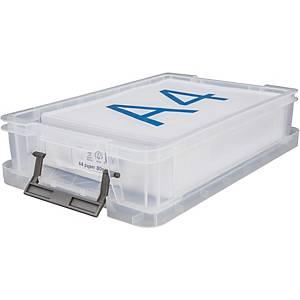 Caja de almacenaje para papel A4 Archivo 2000 - 395 x 255 x 88 mm - transparente