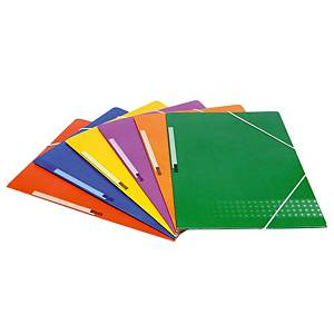 KARMAN FOLDER 3 FLAP PLASTICIZED AZUL