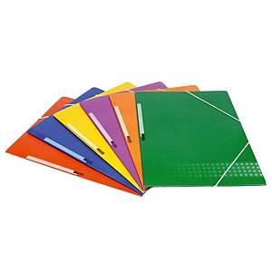 Carpeta con gomas Karman - folio - cartón - azul