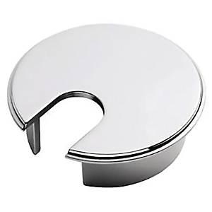 Kabelrosetter til hæve-sænke-bord, Ø 72 mm, krom