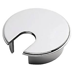Kabelrosetter til hæve-sænke-bord, Ø 72 mm, krom, pakke a 2 stk.