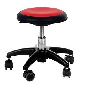 NEW STAR 516 CHAIR NO B/REST SMALL RED