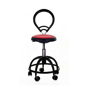 BALLET 320 CHAIR ROUND B/REST SMALL RED