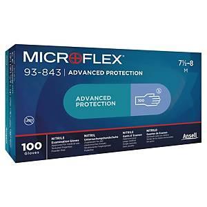 Guanti monouso Ansell Microflex® 93-843 in nitrile tg 8 - conf.100