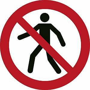 Signaux d'interdiction, interdit aux piétons, ᴓ 200 mm