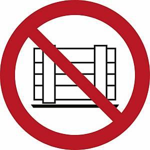 Signaux d'interdiction, ne pas déposer ni entreposer, ᴓ 200 mm