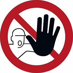 Signaux d'interdiction, interdit aux personnes non autorisées, ᴓ 200 mm