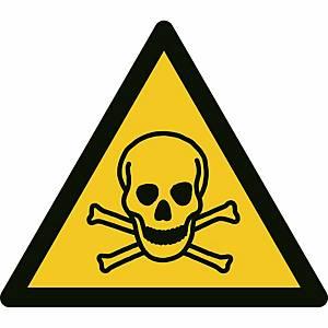 Signaux d'avertissement, danger, matières toxiques,  ᴓ 200 mm