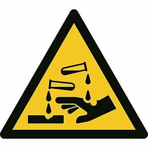 Signaux d'avertissement, danger, matières corrosives, ᴓ 200 mm