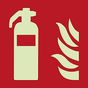 Brandschutzzeichen FEUERLÖSCHER, Selbstklebefolie, 200x200 mm