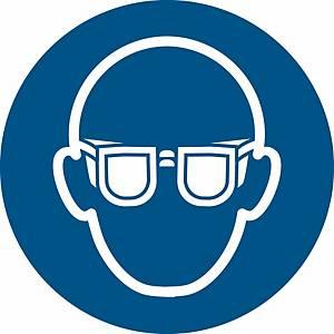 Signaux d'obligation, lunettes de protect. oblig.,  200 mm