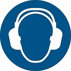 Signaux d'obligation, serre-tête anti-bruit oblig., ᴓ 200 mm