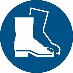 Signaux d'obligation, chaussures de sécurité oblig. ᴓ 200 mm