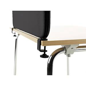 Monteringsbeslag til bordskjerm Abstracta, 37 mm, sort, pakke à 2 stk.