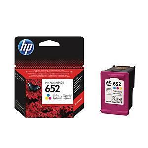 HP tintapatron 652 (F6V24AE), 3 színű C/M/S