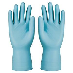 Einweghandschuhe KCL 743, Nitril ungepudert, Gr. 10, blau, 50 Stück
