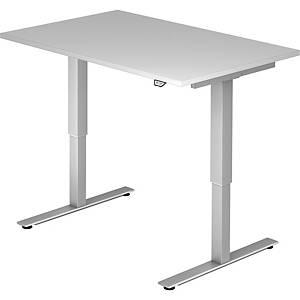 Schreibtisch VXMST12/5/S, höhenverstellbar, Größe: 120 x 80, grau