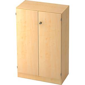 Schrank mit Holztüren, Maße: 127 x 80 x 42 cm, ahorn