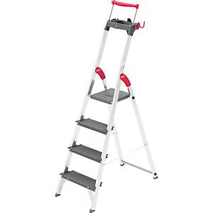 Aluklappleiter Hailo S225XXR, 4 Stufen, Tragkraft: bis 225kg