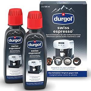 Détartrant spécial Durgol swiss espresso, paq. de 2bouteilles, 125 ml