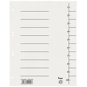 Bene Trennblätter aus recyc. Karton, A4, weiß, Packung mit 100 Stück