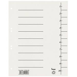 Rozdělovače Bene recy. kart. A4 bílé, balení 100 ks