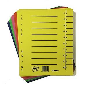 Rozdělovače classic Hit Office A4, mix. barev, balenie 100 ks