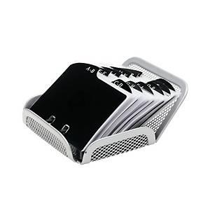Vizitkář stolní S akota 12,5 x 12 x 5 cm stříbrn