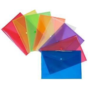 Pack de 12 sobres portadocumentos Grafoplás - folio - PP - transparente