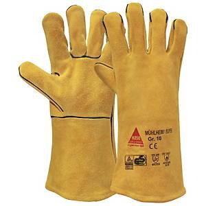 Schweißerschutzhandschuhe Hase Mühlheim I-Super, Größe 10, gelb, 1 Paar