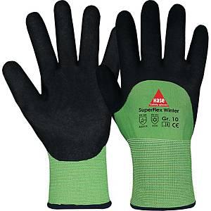Kälteschutzhandschuhe Hase Superflex Winter, Größe 10, grün/schwarz, 1 Paar