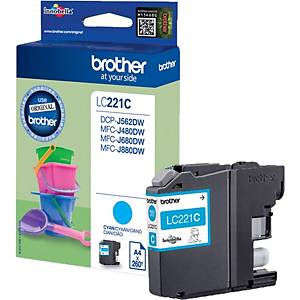Brother LC-221C inkjet cartridge blue [260 pages]