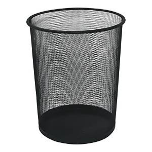 Q-CONNECT WASTE BIN METAL 19L BLACK